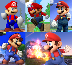 250px-Mario throughout the Super Smash Bros. series