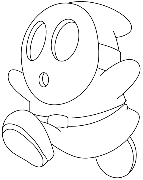 Mario Kart 7 Coloring Pages I6