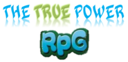 The True Power RPG logo blanco