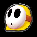 Mario Kart 8 Icon Gelber Shy Guy