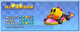 MKAGP2 Screenshot MsPac-Man Standard-Kart