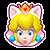 Mario Kart 8 Icon-Map Katzen-Peach