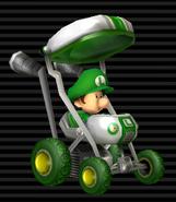 MKW Screenshot Baby Luigi im Baby-Booster