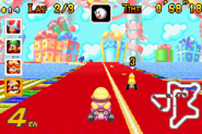 MKSC Screenshot Wario auf der Party-Straße