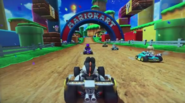 MKAGPDX Screenshot Schwarzer Yoshi im Lightning Champ 2