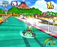 MKAGP Screenshot Yoshi auf Mario Highway