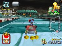 MKAGP2 Screenshot Toad in Castle Wall