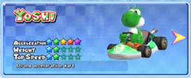 MKAGP Screenshot Yoshi Standard-Kart