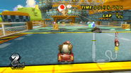 MKW Screenshot Funky Kong in Toads Fabrik
