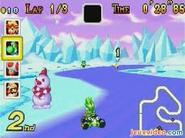 MKSC Screenshot Yoshi im Schneeland