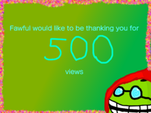500 views celebration