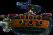 Bowser Jr. en el barco aerio