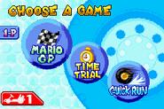 Mode Selection - Mario Kart Super Circuit