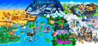 NSMBU Screenshot Pilz-Königreich (Karte)