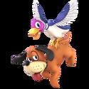 SSBU Artwork Duck-Hunt Duo