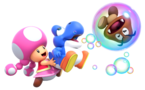 NSMBUD Toadette mit Blauen Baby Yoshi 2