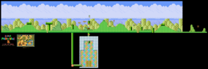 SMB3 World 1-2 SNES level map