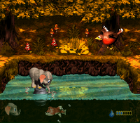DKC3 Screenshot Fässer-Fiasko
