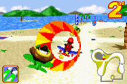 Diddy and K. Rool - Beach Race - Diddy Kong Pilot (2001)