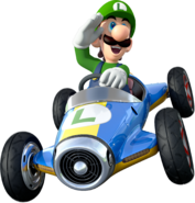 Luigi Artwork (alt) - Mario Kart 8