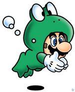 SMB3 Artwork Frosch-Mario