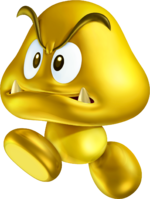 150px-Gold Goomba Artwork - New Super Mario Bros 2