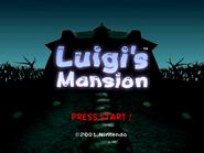 Luigi's Mansion - Title Screen