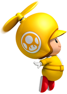 NSMBW Artwork Propeller-Gelber Toad