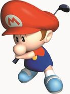 Baby Mario official artwork for MarioGolf64