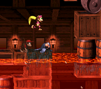 DKC2 Screenshot Lavalagune