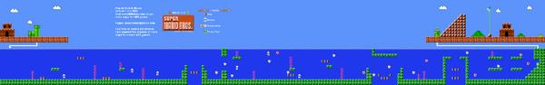 SMB World 2-2 NES level map