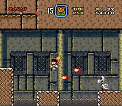 SMW Screenshot Schoko-Festung