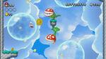 NSMBU Screenshot Wasserballons in luftiger Höhe