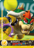 Carte amiibo Bowser tennis
