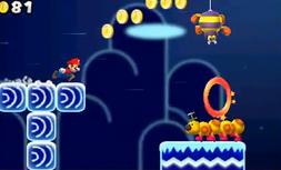 Mario en un nivel extraño