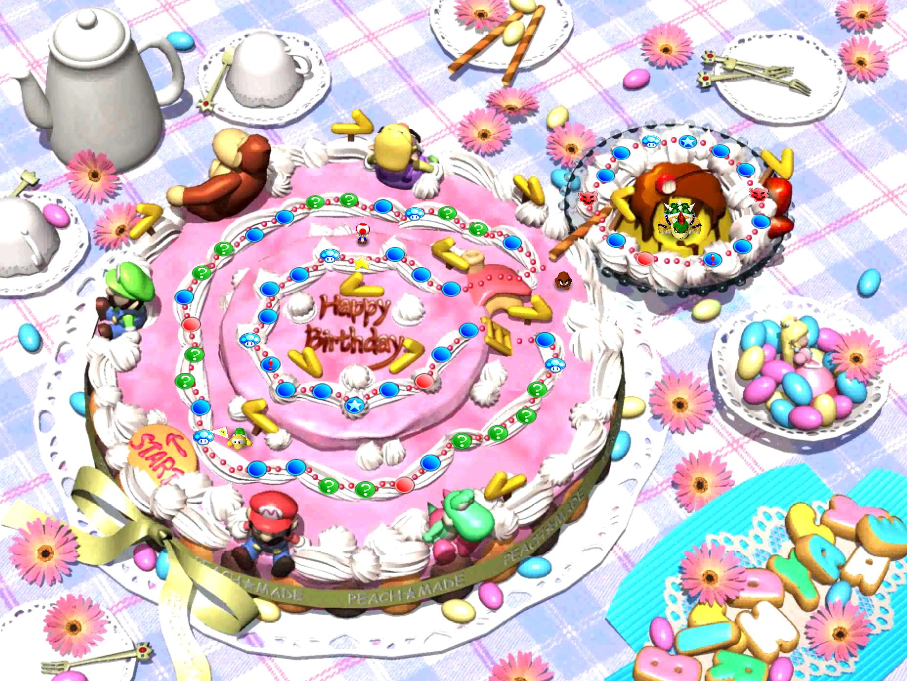 Strange Peachs Birthday Cake Mariowiki Fandom Personalised Birthday Cards Paralily Jamesorg
