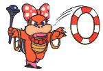 Wendy con un Aro de Caramelo