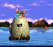 K. rool atrapado en un huevo gigante