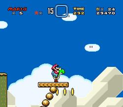 SMW Screenshot Yoshis Eiland 3