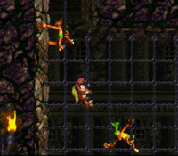 DKC2 Screenshot Ketten-Kletten