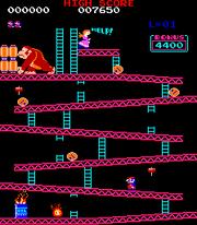 Donkey Kong (juego) nivel 1