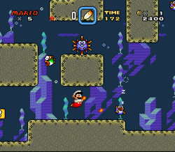 SMW Screenshot Wald der Illusion 2