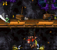 DKC2 Screenshot Windhöhle