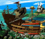 Gangplank Galleon Map (Donkey Kong Country 2)
