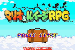 Title Screen - Japan - Mario and Luigi Superstar Saga