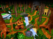 DKC3GBA Screenshot Kremwood Forest