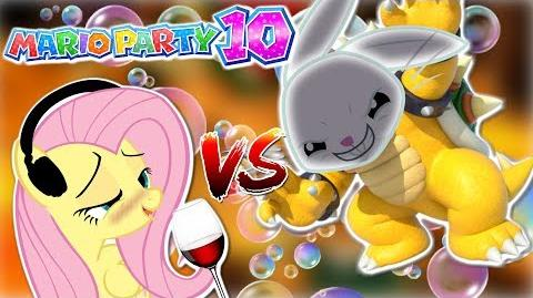 DRUNK Fluttershy plays Mario Party 10 🍉 ANGEL BUNNY IS BOWSER HILARIOUS Part 2