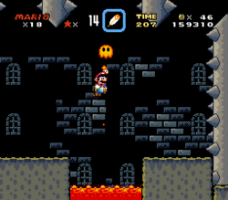 SMW Screenshot Tal Festung