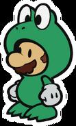Mario(de papel) con traje de rana