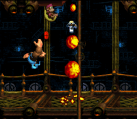 DKC3 Screenshot Feuerball-Knall
